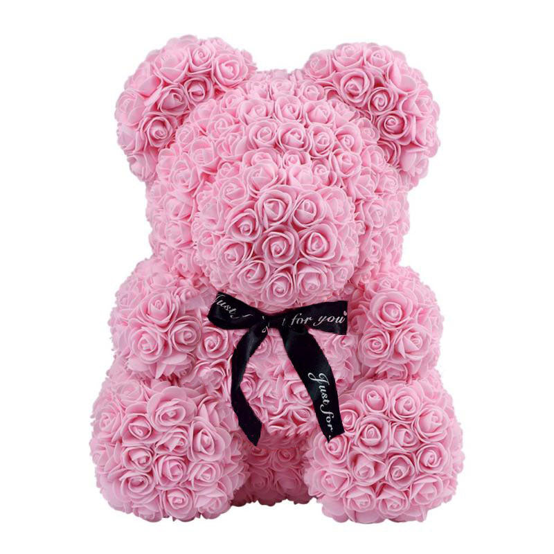 Pink Valentines Teddy Rose Bear