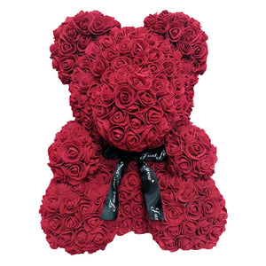 Valentines Red Rose Bear