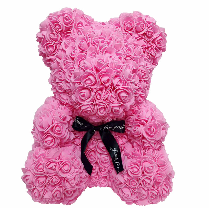 With Love Valentines Rose Bear