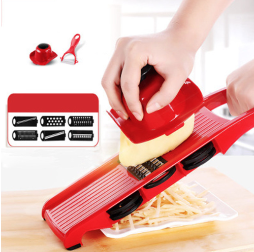 Vegetable Slicer / Mandoline, Cutter Julienne and Grater. Includes 5 blade inserts without container - Your Goods Central