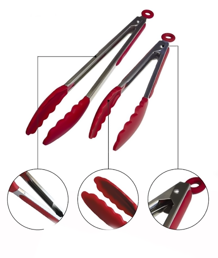 Premium Silicone Tongs | 2 Pack 9-Inch & 12-Inch