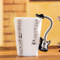 Novelty Guitar Ceramic Cup Personality Music Note Mug - Your Goods Central