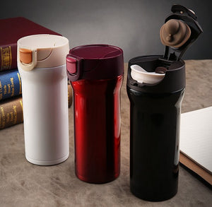 Vacuum Insulated Stainless Steel Travel Mug with Easy-Clean Lid, 12oz - Your Goods Central