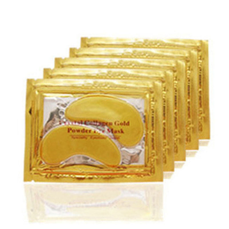Gold Crystal Eye Mask Patches For Wrinkle Care 20pcs=10packs - Your Goods Central