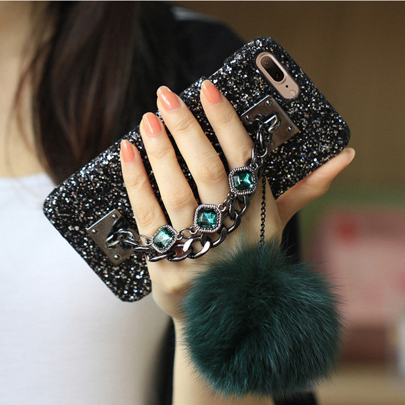 Bling iPhone Case with Gem Bracelet & Chain Tassel - Your Goods Central