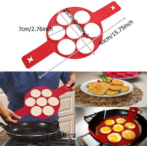 Nonstick Flip Mold Pancake & Egg Ring Shape Mould Omelette Hash Browns Maker Pastry Tools - Your Goods Central