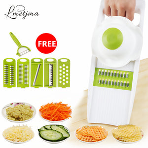 Stainless Steel Mandoline Slicer Into Strips Device Grater (5 Sets Shredder Slicer blades) - Your Goods Central