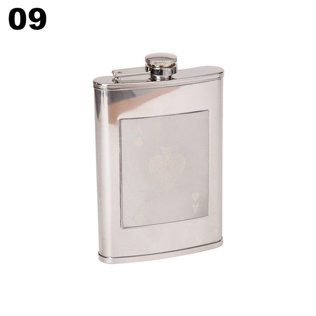 9 Oz Stainless Steel Mini Flasks - Your Goods Central