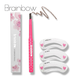 Eyebrow Pencil Long lasting Waterproof Durable Eyebrow Liner + 3 Eyebrow Stencils Grooming Kit - Your Goods Central
