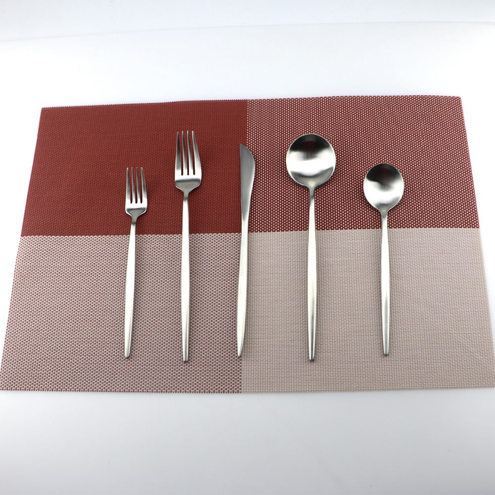 5Pcs/Lot Silver Cutlery Set 18/10 Stainless Steel - Your Goods Central