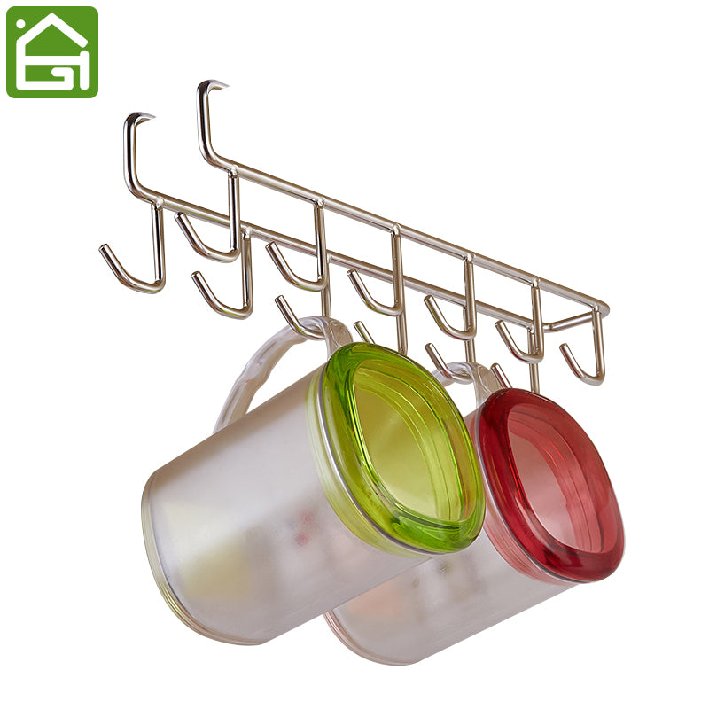 Stainless Steel Hanging Cup Drainer Storage Hooks - Your Goods Central