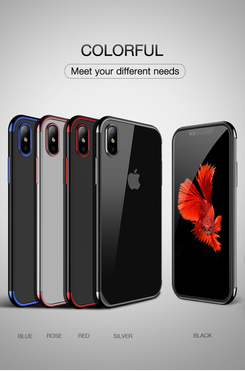 iPhone X Soft plated Phone Case