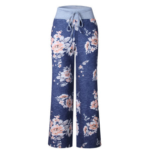 Causal Flower Print Pants - Your Goods Central