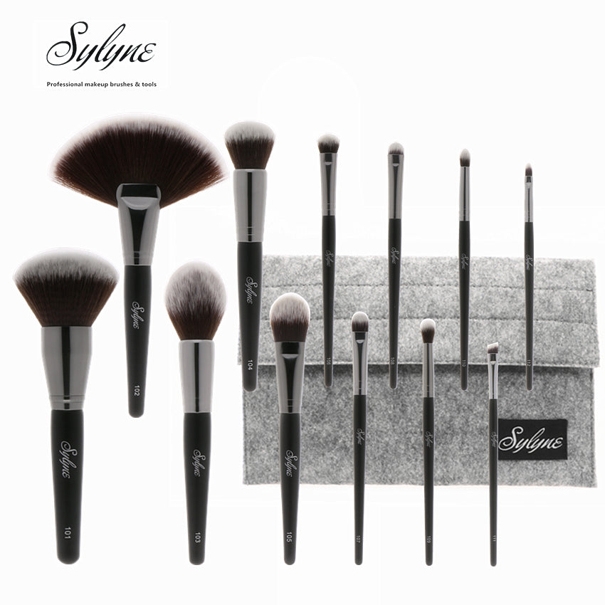 12pcs Soft Full Professional Makeup Brush Set with Holder