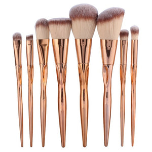 8pcs Metal Makeup Brushes Set - Your Goods Central