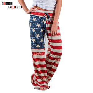 Stars and The Stripes Flared Long Trousers - Your Goods Central