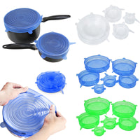 Universal Silicone Suction Lids for Covering Cooking Pot Pan - 6PCS/Set - Your Goods Central