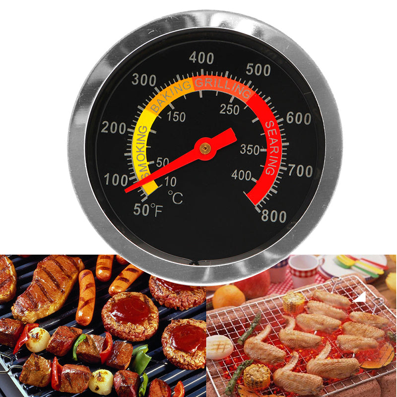Outdoor Grill Smoker Temperature Gauge