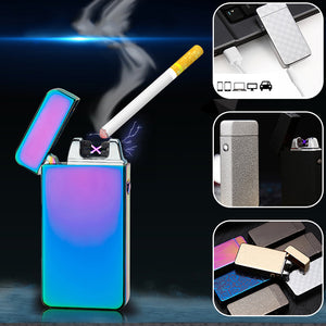 Electric Flameless Double Arc Lighter USB Rechargeable - Your Goods Central