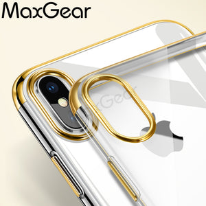 iPhone X Soft Phone Case with  Electroplating Bumpers - Your Goods Central