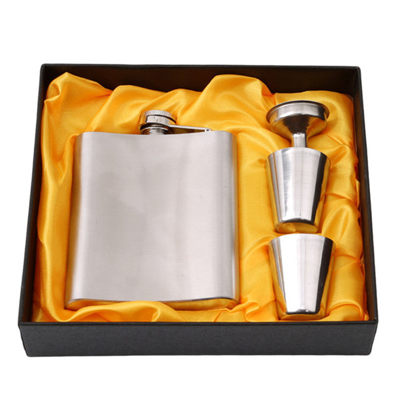 Stainless Steel Whiskey Hip Flask 7oz  Pocket Flask Set - Your Goods Central