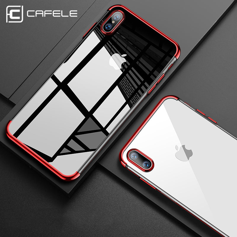 iPhone X ultra thin transparent Phone Case with Plated Bumpers - Your Goods Central