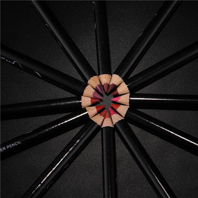 12pcs Professional Multi-functional Long Lasting Waterproof Lip/Eyebrow Pencils - Your Goods Central