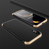 iPhone X Full Body Protective Case + Tempered Glass Front Screen Protector - Your Goods Central