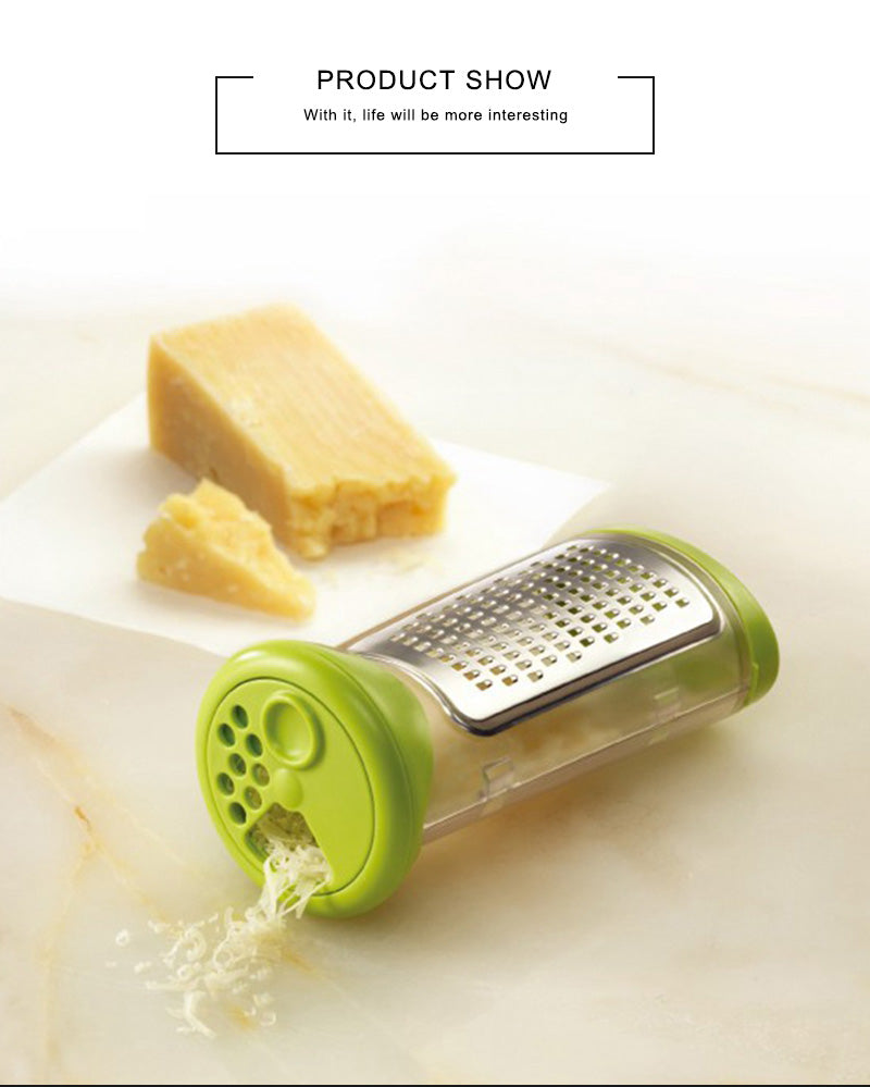 Cheese Grates and Measure with Etched Stainless Steel - Your Goods Central