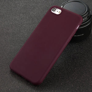 iPhone Silicone Matte Phone Case