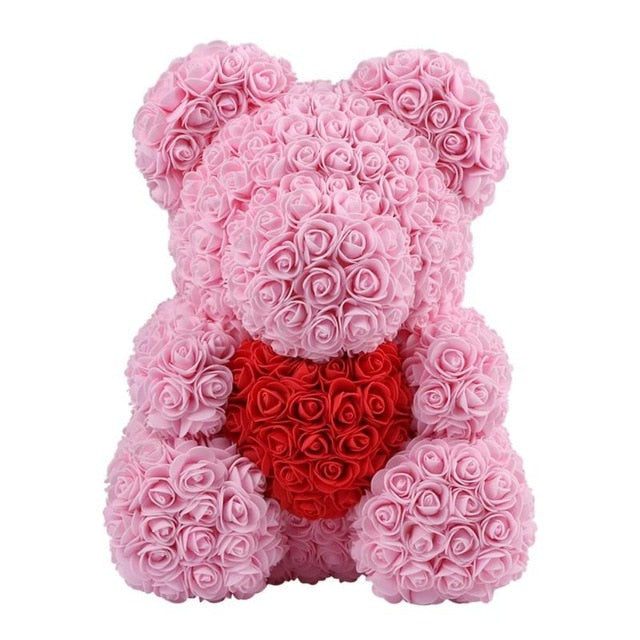 Limited Edition: My Heart Pink Rose Bear