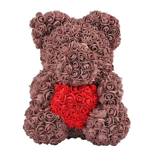 Limited My Heart Brown Rose Bear