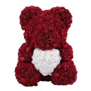 Limited Edition Love Heart Rose Bear