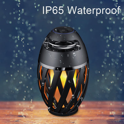 Bluetooth Speaker with Led Flame Lights