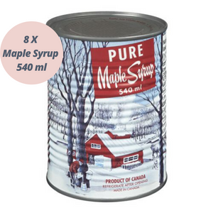 Maple Syrup 100% Pure (8 x 540 ml)