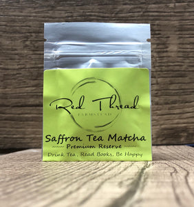 Saffron Tea Matcha → Luxury Super Tea →  6 Brew Pouch - Red Thread Farmstead