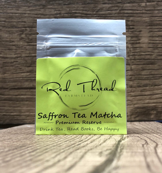 Saffron Tea Matcha → Luxury Super Tea →  6 Brew Pouch