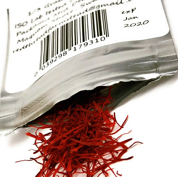 Saffron, 100% Pure, Fresh, Premium Red Threads (1 gram) Gold Bar - Red Thread Farmstead