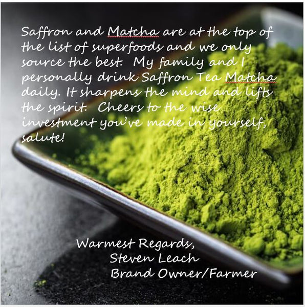 Saffron Tea Matcha → Super Tea →  30+cups - Red Thread Farmstead