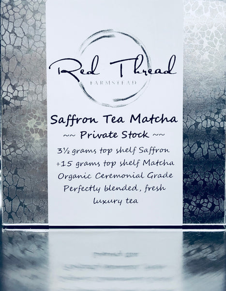 Saffron Tea Matcha → Luxury Super Tea →  30 count+ - Red Thread Farmstead