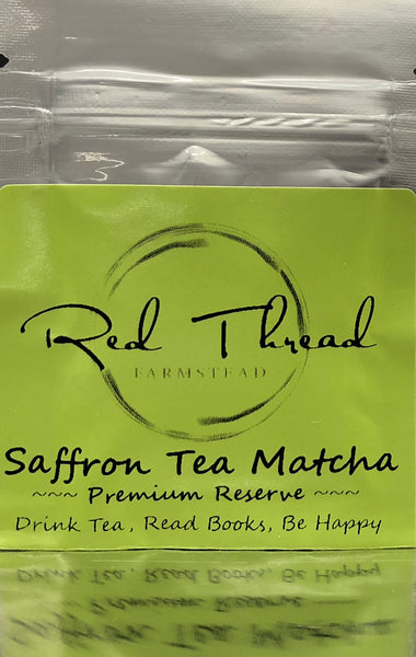 Saffron Tea Matcha → Luxury Super Tea →  30 count+
