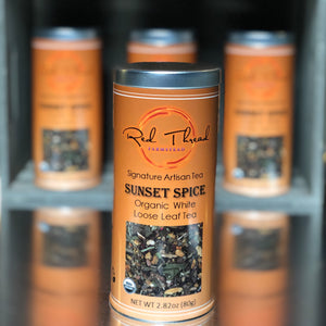 Sunset Tea → Organic White Loose Leaf Tea (80g) - Red Thread Farmstead