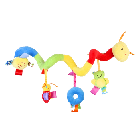 Colorful Car Seat Worm Toy With A Ringing Bell Apparel
