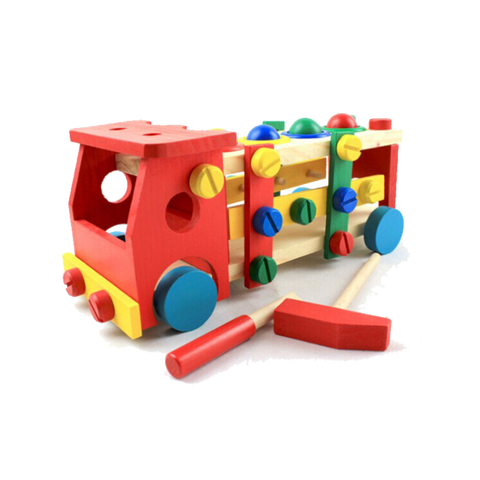 Colorful Educational Wooden Truck For Children (2Yrs To 4Yrs) Toys