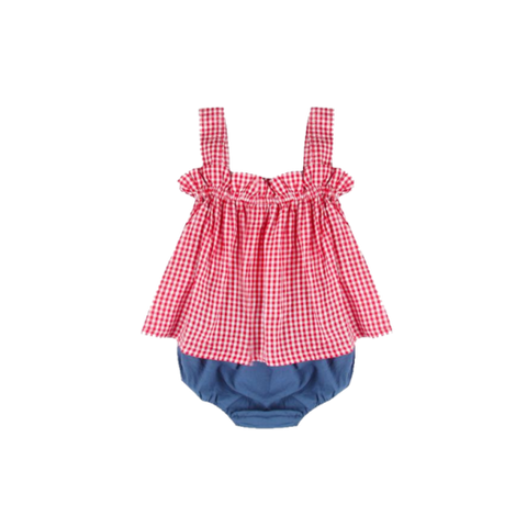 Cute Plaid Summer Dress And Short For Babies (6 To 18 Months) Apparel