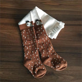 Lovely Fox Print Stockings In Brown Or Grey (1Yrs To 5Yrs) Apparel