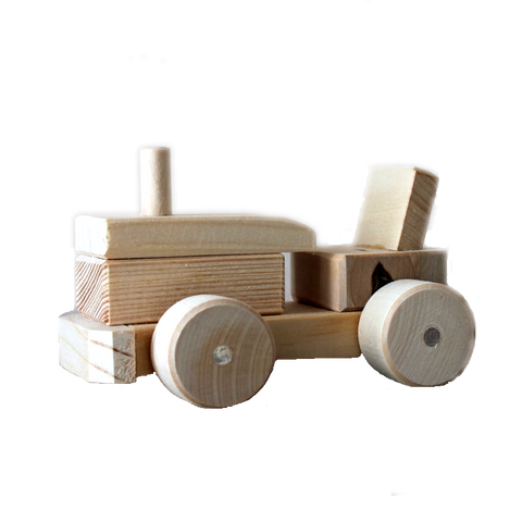 Lovely Handcrafted Wooden Tractor Toy