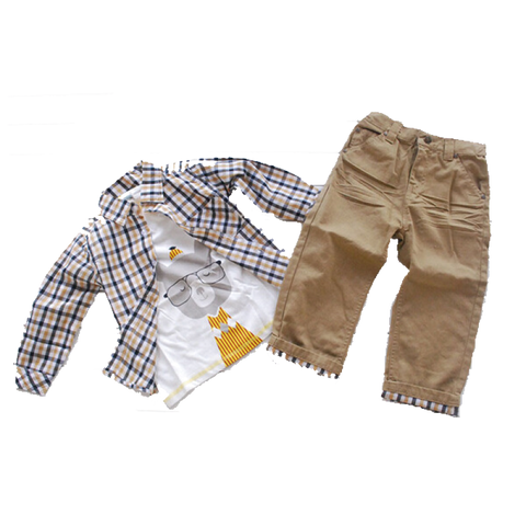 Lovely Set Of Jacket Shirt And Jeans Trousers (6Mths~5Yrs) Apparel