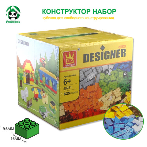 Designer Diy Gift Toy Building Blocks 625Pcs Constructor Set Educational Toys Wange Bricks Are Compatible With Lego Parts