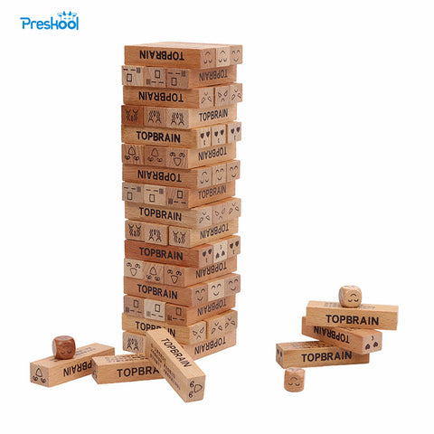 Preskool Baby Toys For Children Kids Toy Jenga Wooden Building Blocks Educational Brinquedos Brinquedo Juguetes